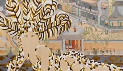 Fjerdragt, 2007. Olie på lærred, 125 x 140 cm.